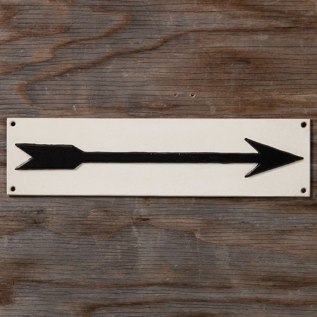 HomArt Cast Iron Sign - Arrow - Long