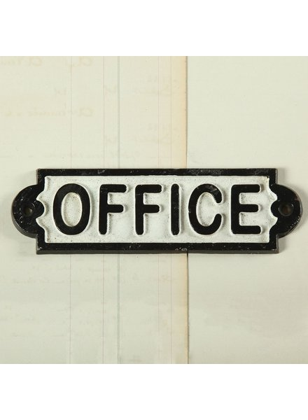 HomArt Cast Iron Sign - Office