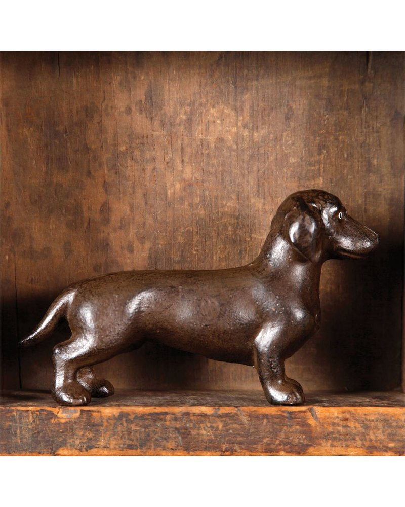 HomArt Gaston the Dachshund - Cast Iron
