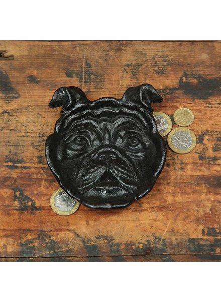 HomArt Dog Face Cast Iron Dish - Black