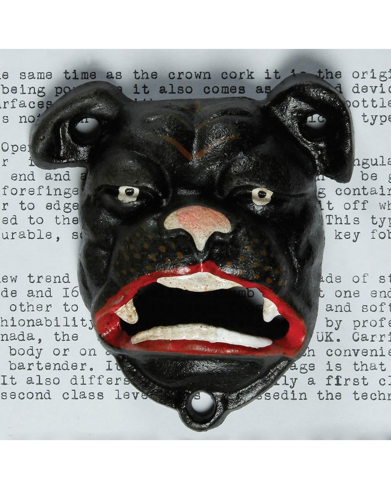 HomArt Bulldog Bottle Opener - Black
