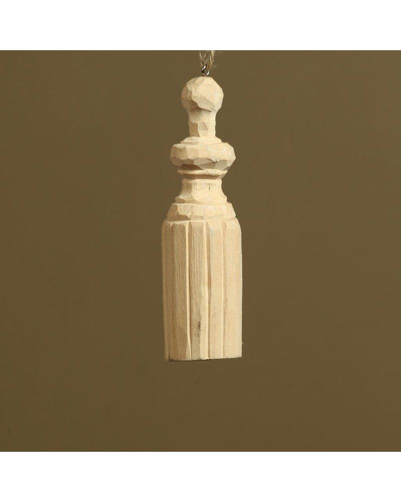 HomArt Carved Wood Tassel
