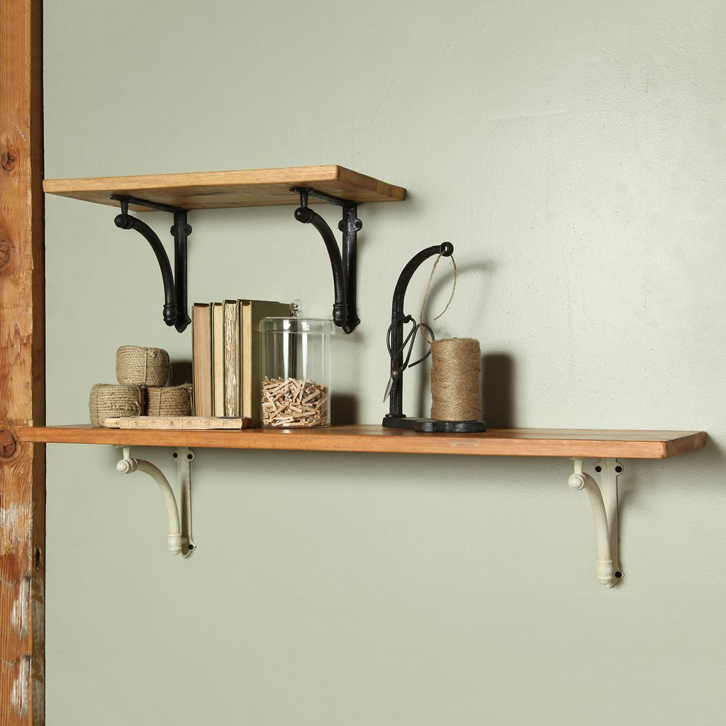HomArt Williamsburg Shelf - 36 in - Antique Black