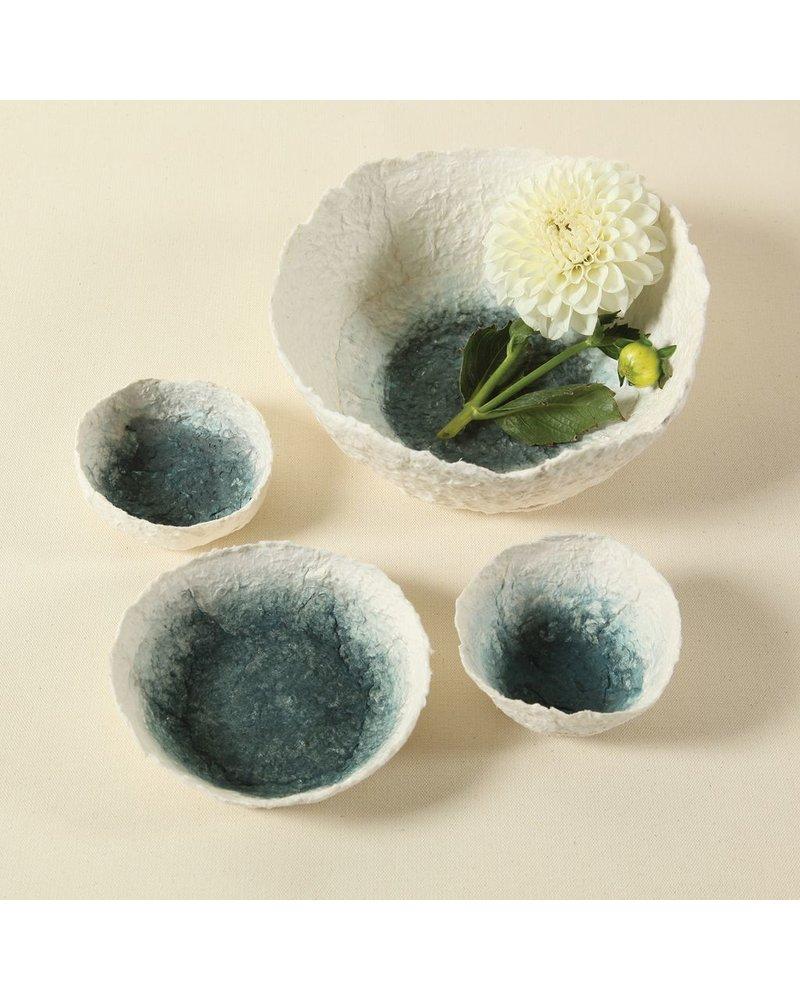 HomArt Paper Mache Bowl - Lrg - Indigo