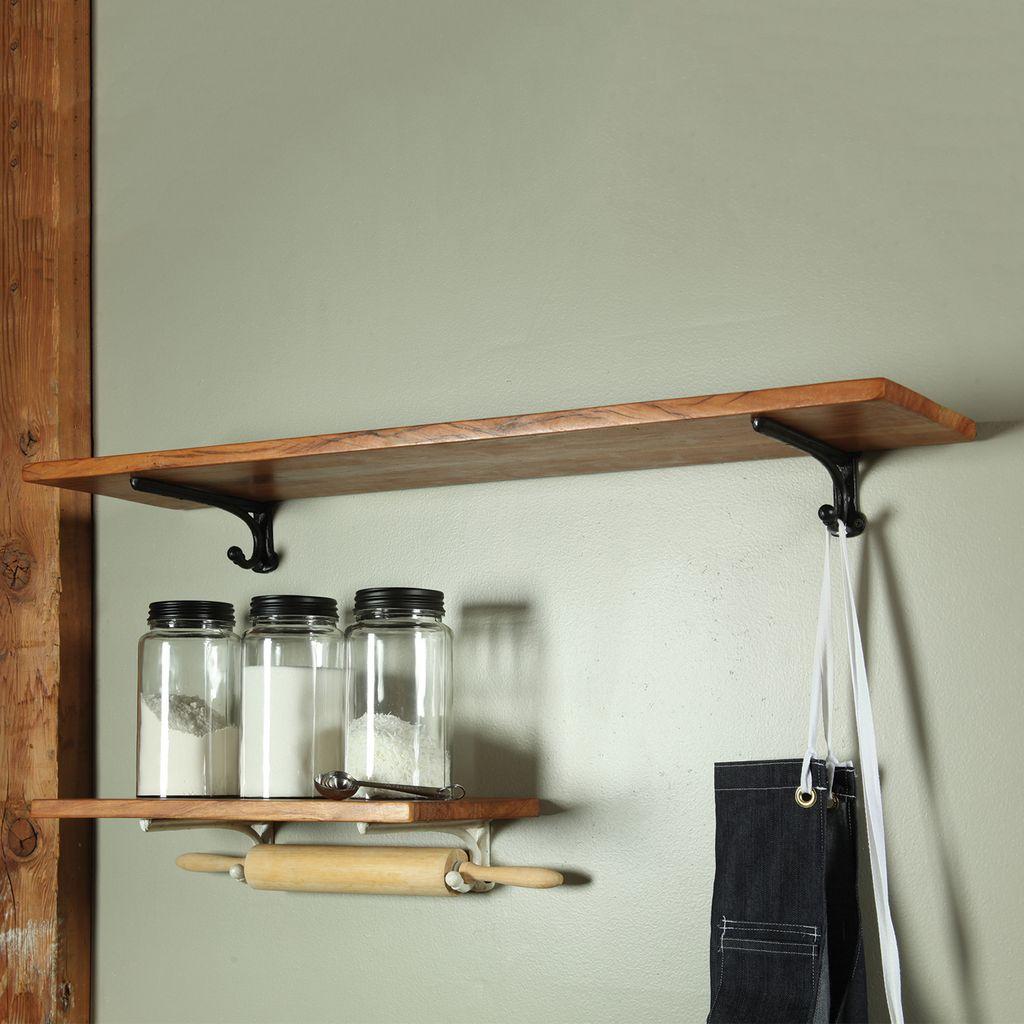 HomArt Sullivan Shelf - 36 in - White Brackets