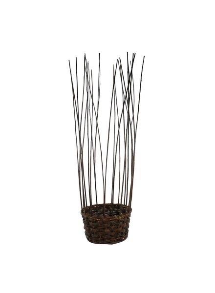 HomArt Willow Gathered Baskets - Set of 2 - natural