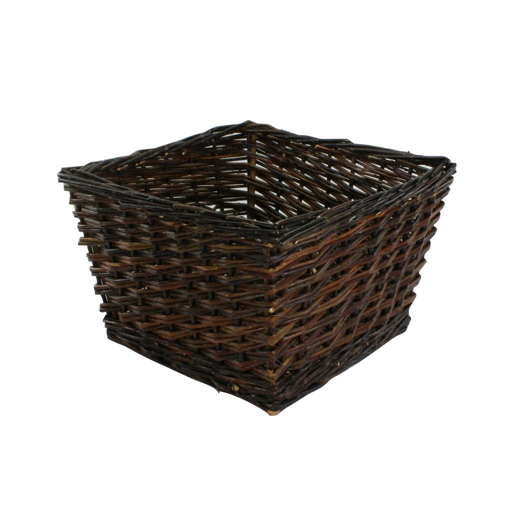 ... HomArt Willow Square Storage Baskets   Set Of 4   Natural ...