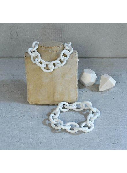 HomArt Ceramic Chain - Matte White