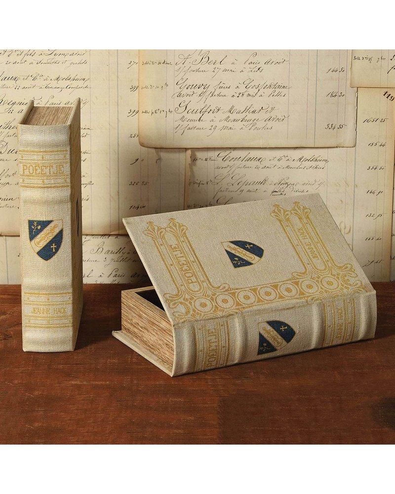 HomArt Vintage Canvas Book Box - Blue Shield