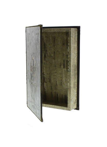 HomArt Royal Embossed Book Box - Eagle - 9.5 in - Brown