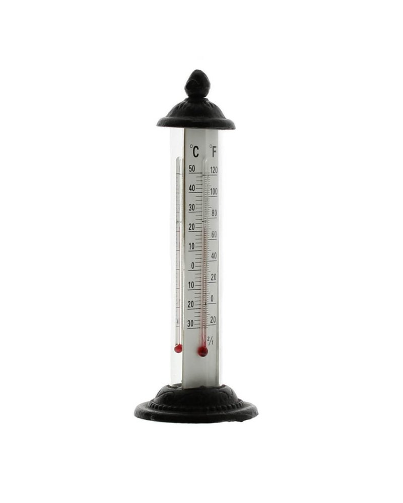 HomArt Garden Thermometer - Cast Iron - Brown