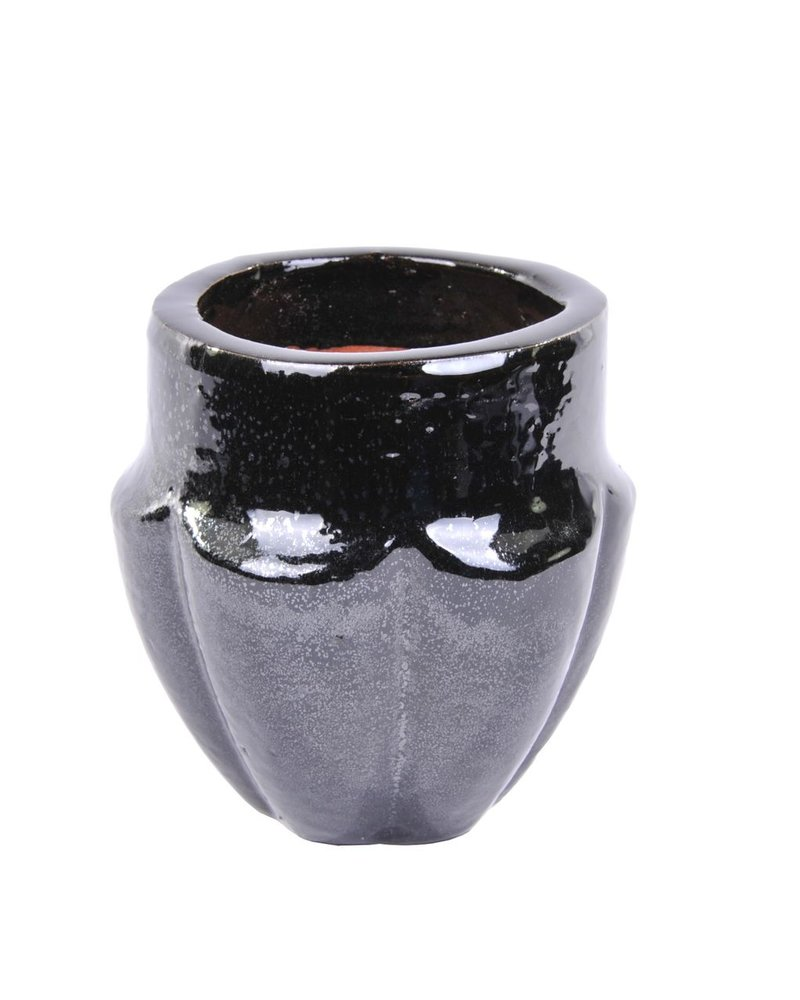 HomArt Neiman Earthenware Vase - Sm - Black
