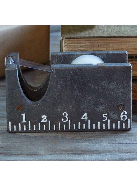 HomArt Ruled Tape Dispenser - Cast Iron - White Text