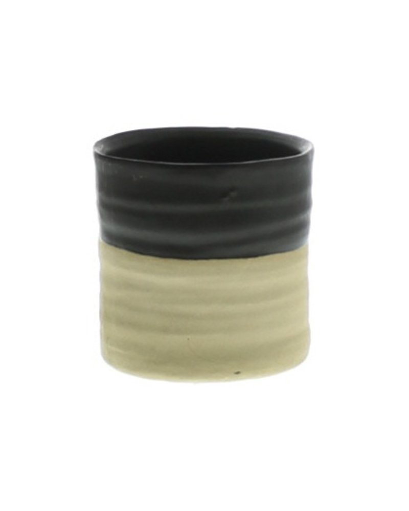 HomArt Tucker Ceramic Vase - Matte Brown & Natural