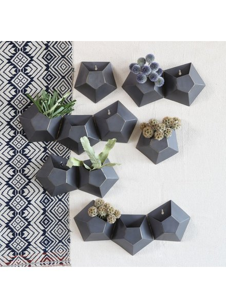 HomArt Hexagonal Iron Wall Vase - Single
