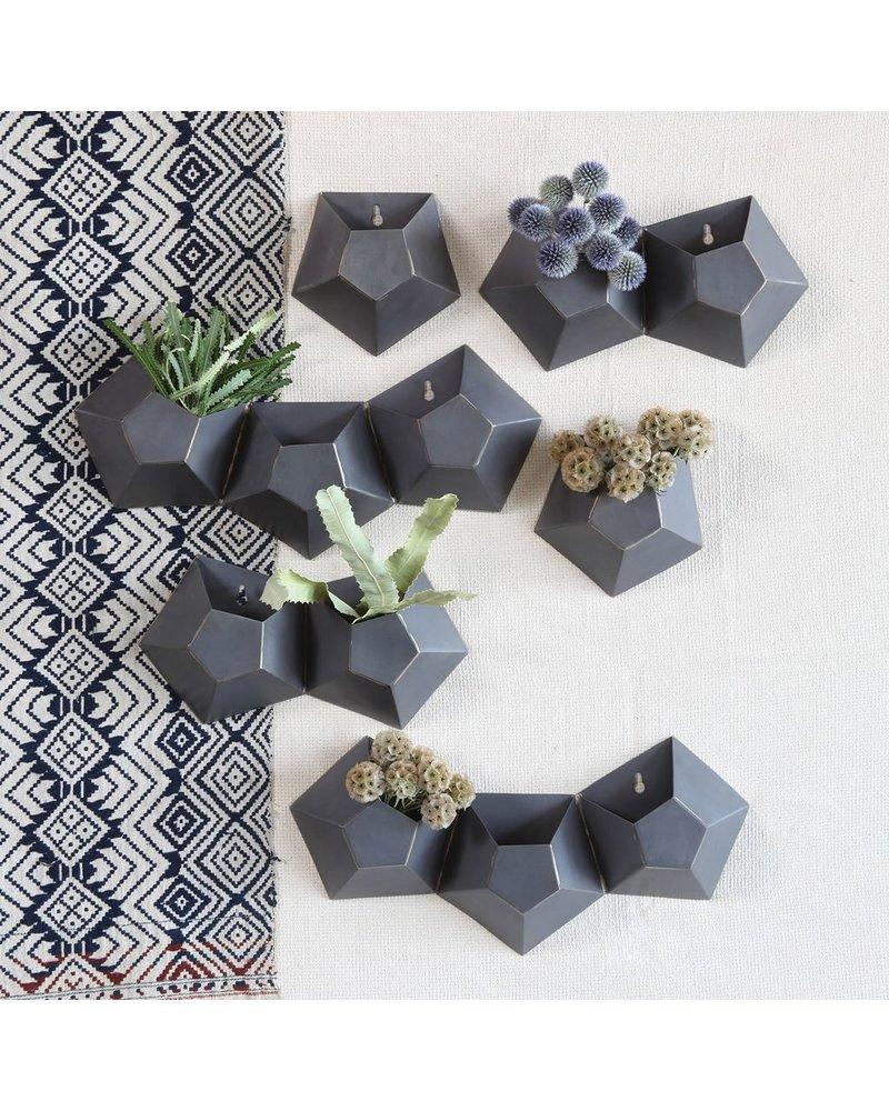 HomArt Hexagonal Iron Wall Vase - Single