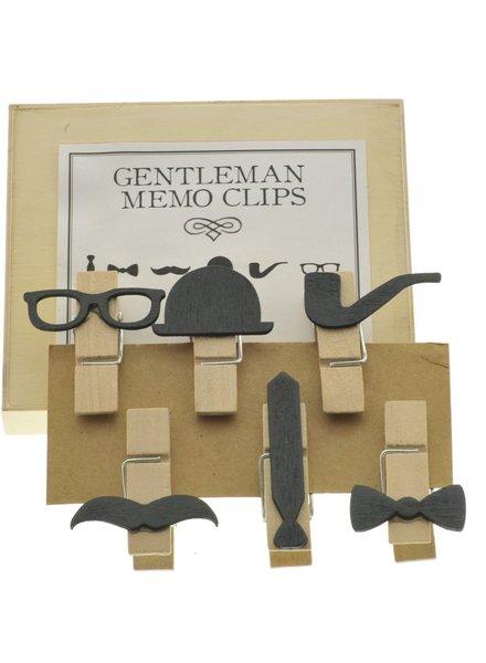 HomArt Gentleman Memo Clips, Box of 6 - Assorted