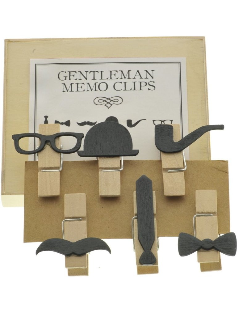 HomArt Gentleman Memo Clips, Box of 6 - Assorted