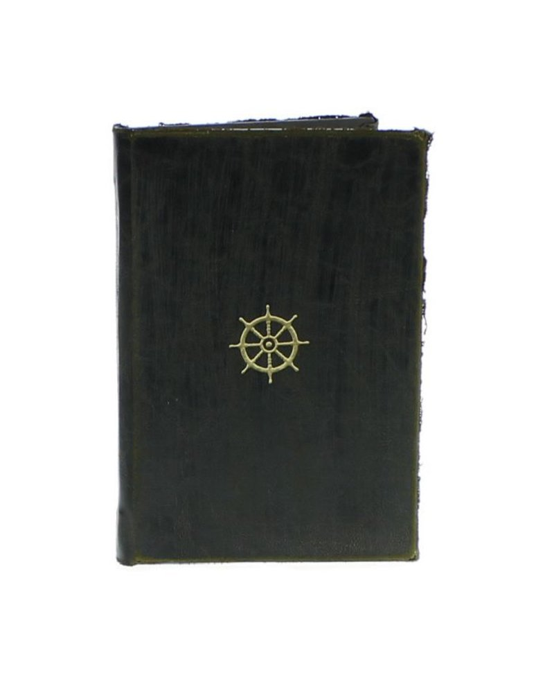 HomArt Maritime Embossed Journal - Wheel - Black