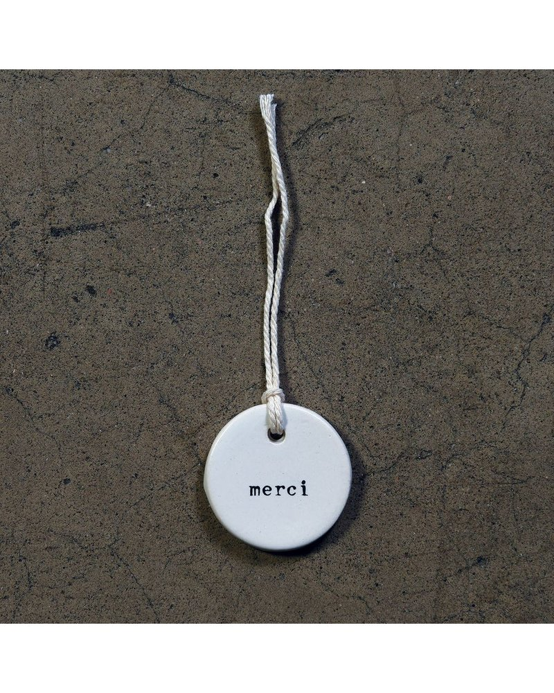 HomArt Ceramic Tag - Merci