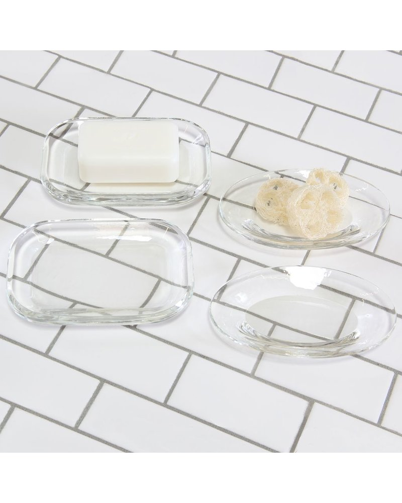 HomArt Crystal Tray - Rect - Clear