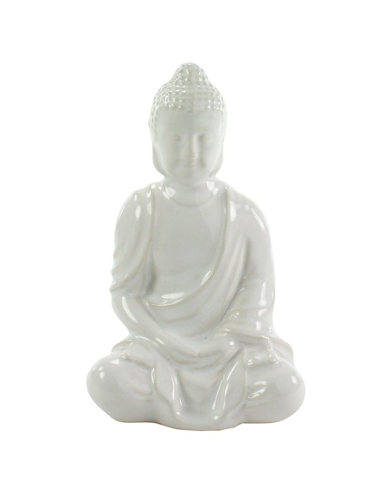 HomArt Sitting Buddha - Glazed White
