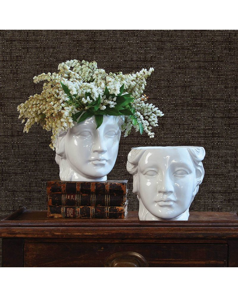 HomArt Apollo Ceramic Head Cachepot - White