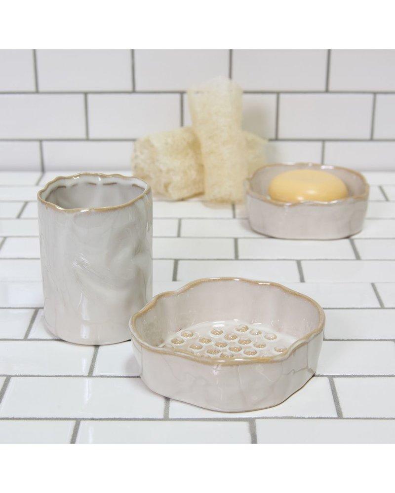 HomArt Bower Ceramic Vase - Fancy White