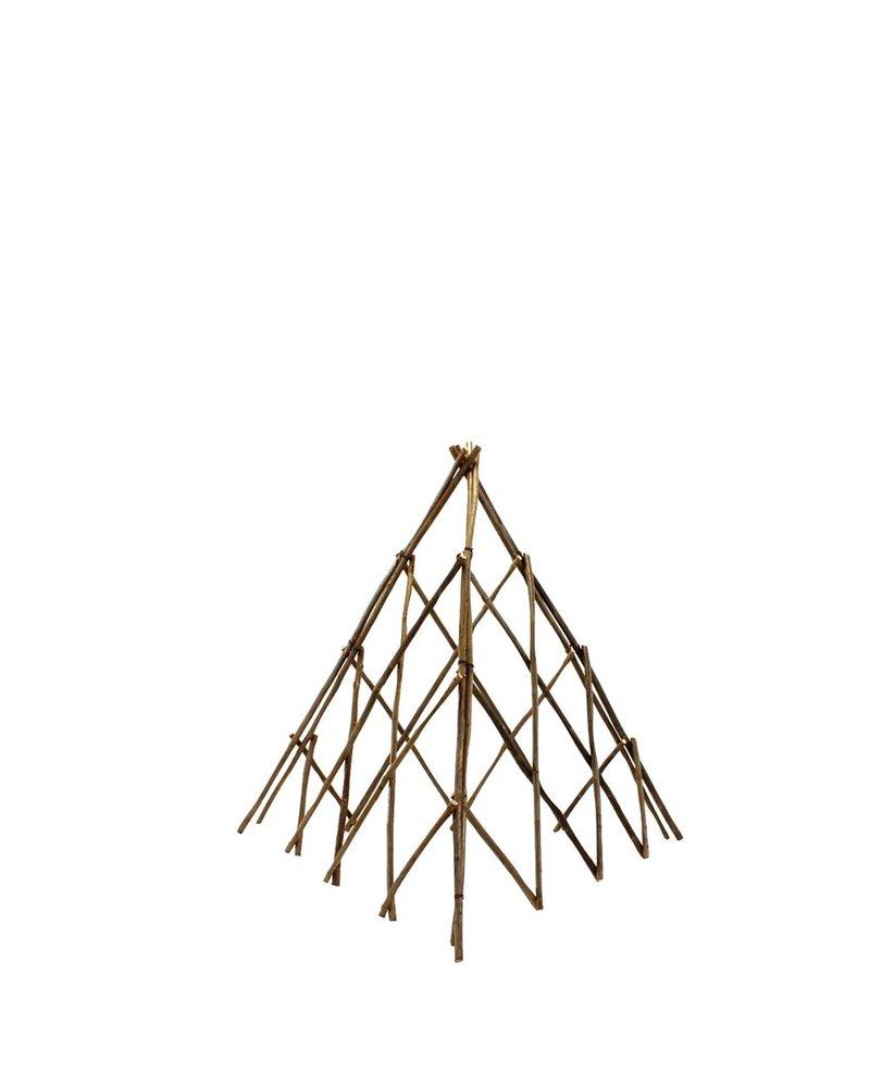 HomArt Pyramid Twig Trellis - Sm - Natural
