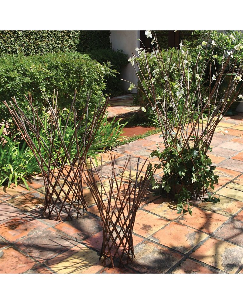 HomArt Flared Twig Trellis - Med - Natural