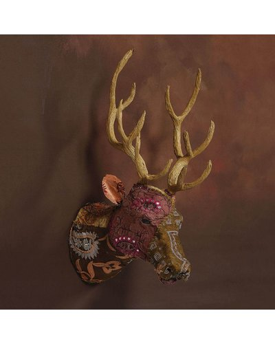 HomArt Bavarian Forest Stag Head, Wall Mount - Deep Brown