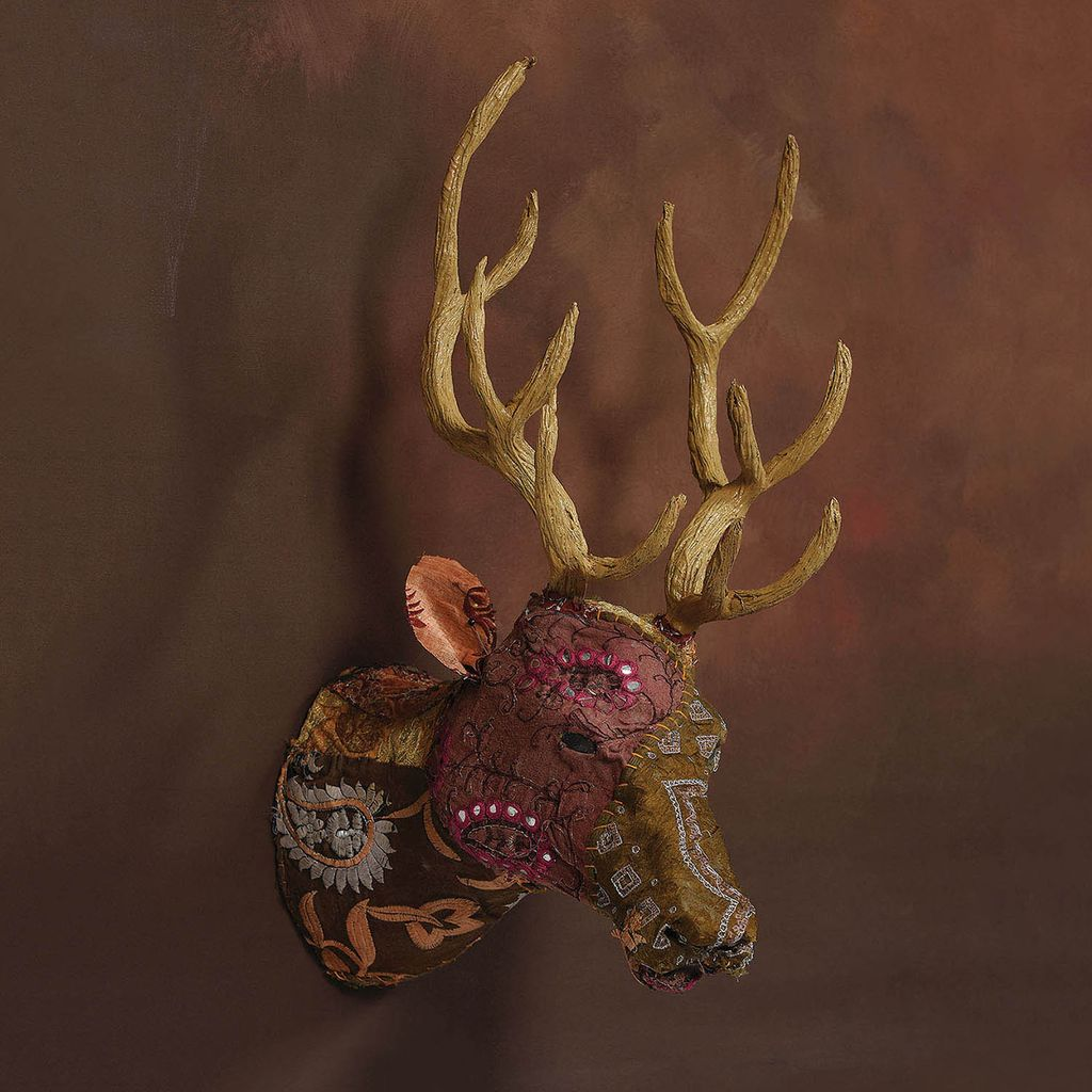 Homart Bavarian Forest Stag Head Wall Mount Deep Brown