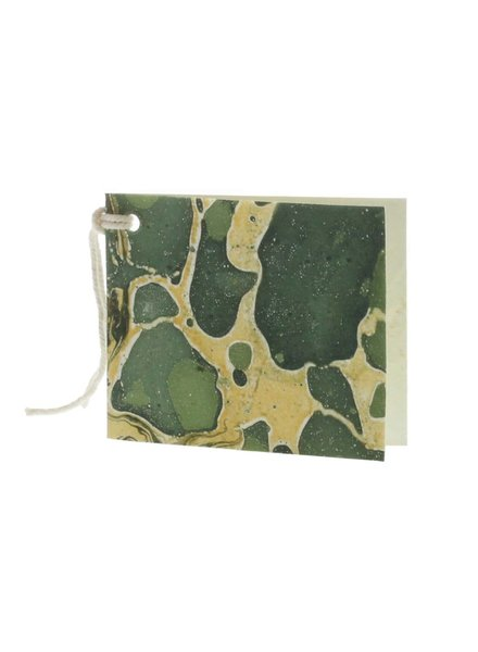 HomArt Green Marbleized Paper Gift Tag - Pack of 12