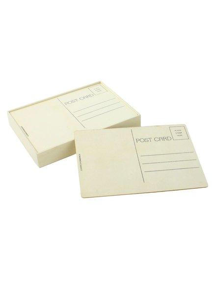 HomArt Post Card - Modern - Box of 12 - Natural Wood