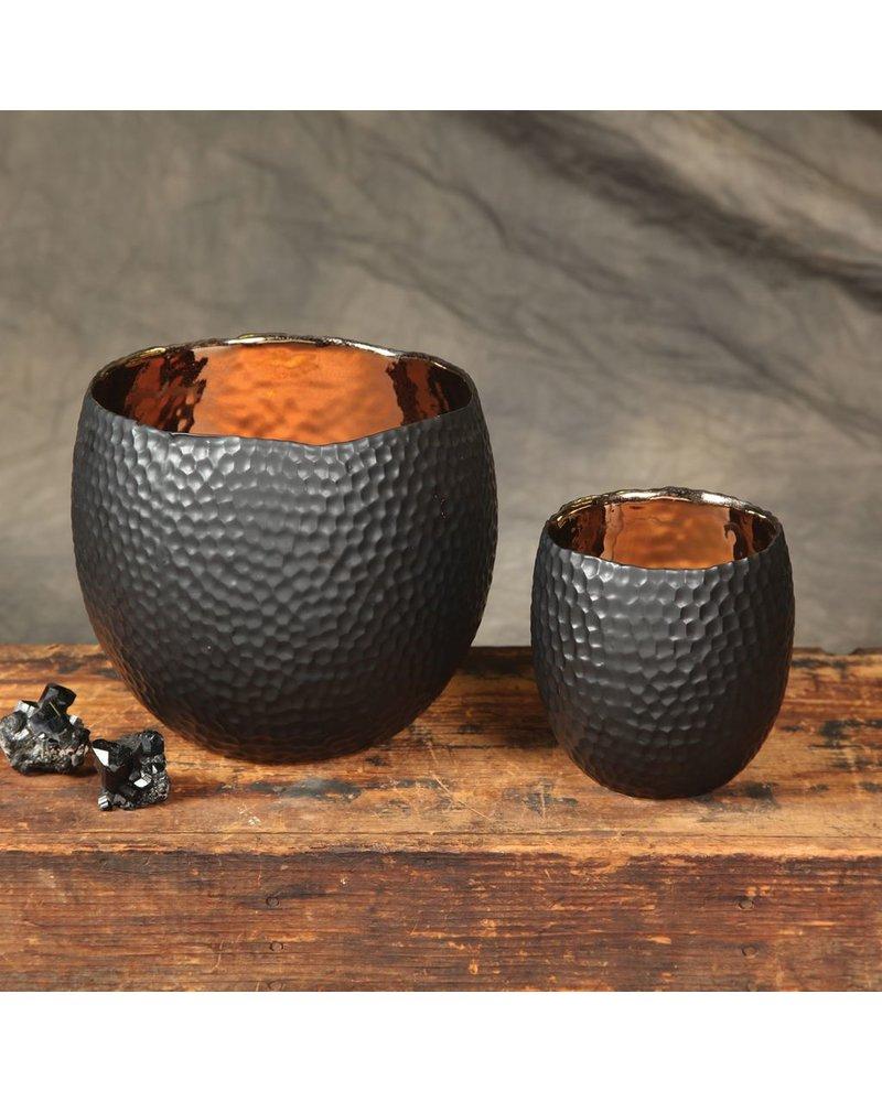 HomArt Auspicious Ceramic Vase - Lrg - Gold & Black