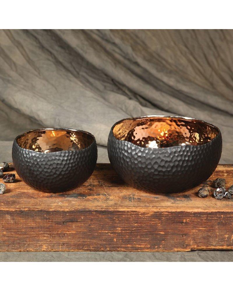 HomArt Auspicious Ceramic Bowl - Lrg - Gold & Black