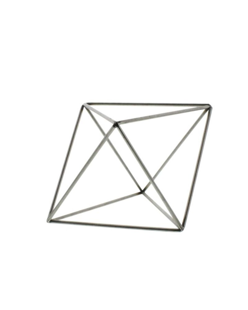 HomArt Steel Geo Octahedron Object - Natural