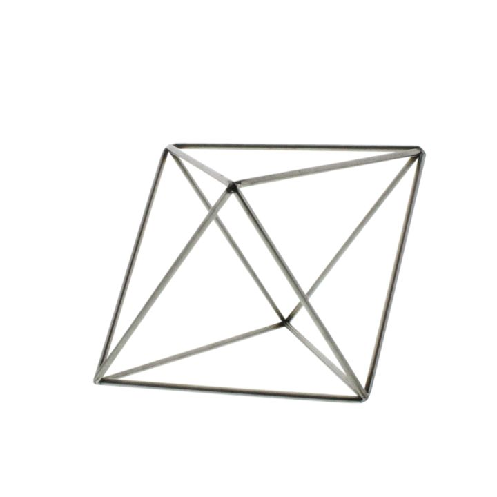 HomArt Steel Geo Octahedron Object - Natural