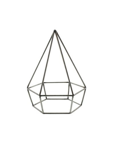 HomArt Steel Geo Diamond Object - Natural