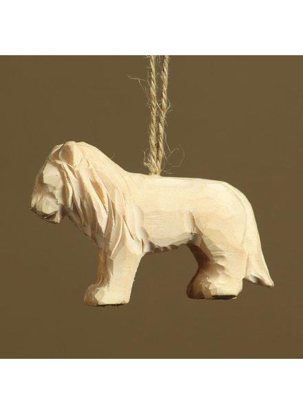HomArt Carved Wood Ornament - Lion