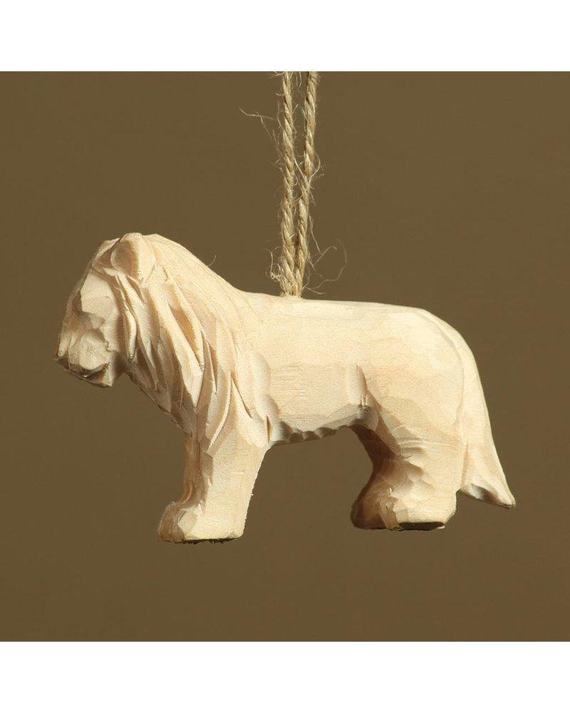 HomArt Carved Wood Ornament - Lion Set of 3