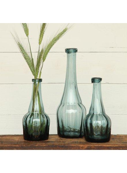 HomArt Basal Glass Bottle - Lrg - Vintage Blue