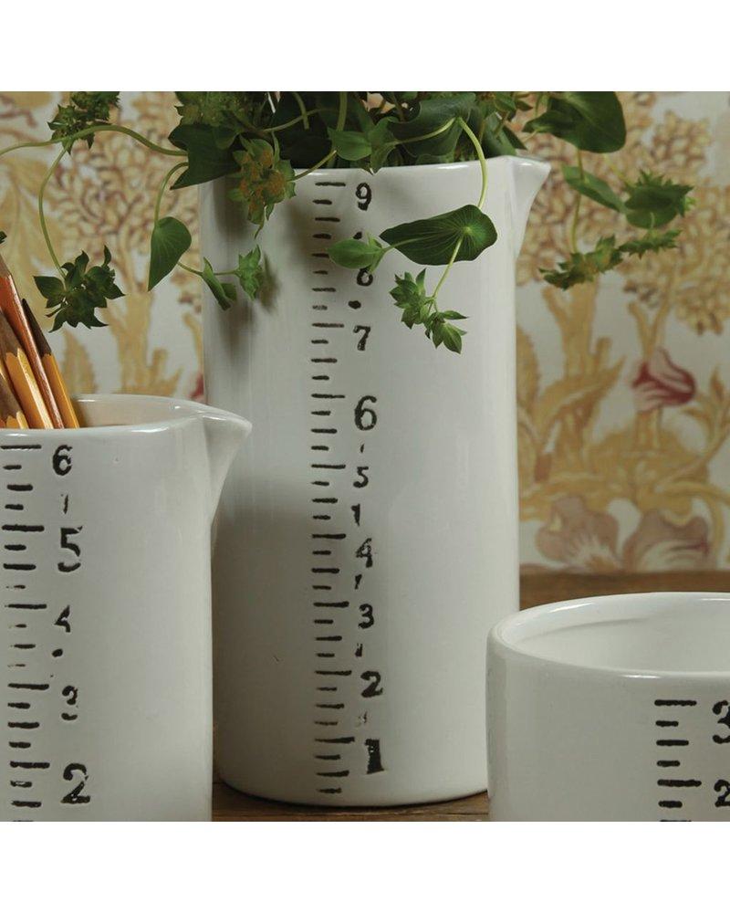 HomArt Ruled Ceramic Container - Lrg - White-Black