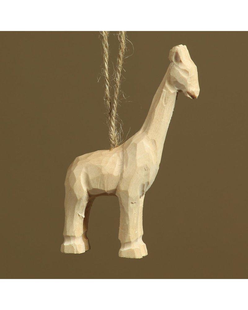 HomArt Carved Wood Ornament - Giraffe