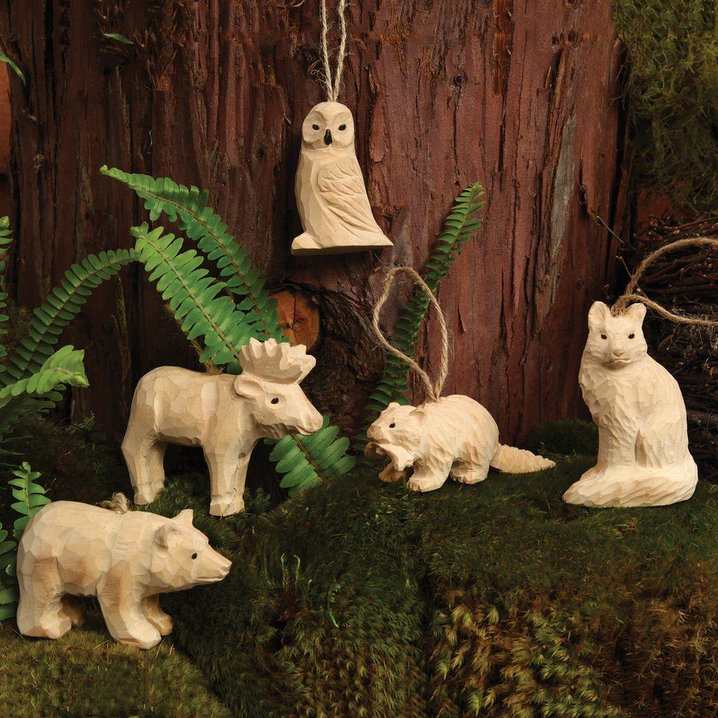 HomArt Carved Wood Ornament - Fox