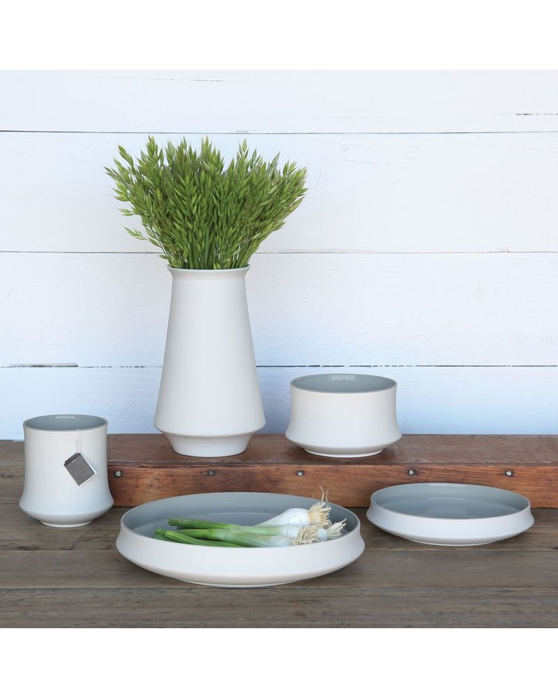 HomArt Pacific Ceramic Bowl - White OUT - Grey IN