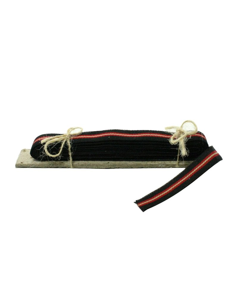 HomArt Signal Grosgrain Striped Ribbon - 5 Yd - Black-Red
