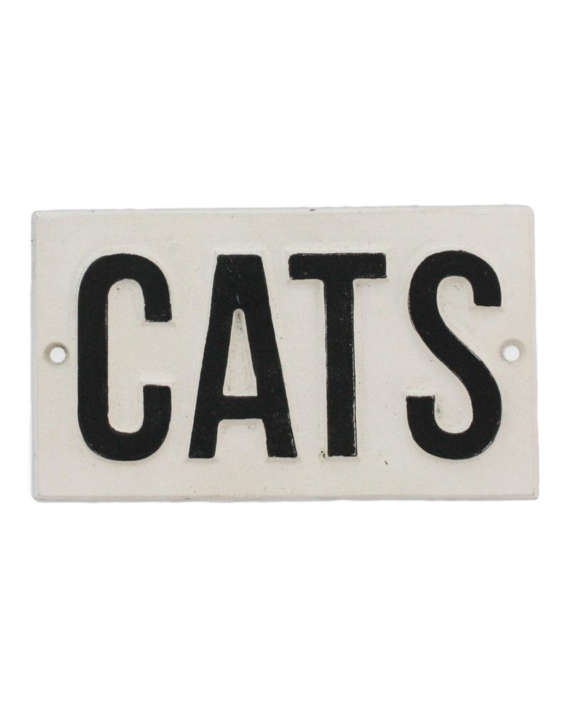 HomArt Cast Iron Sign - CATS