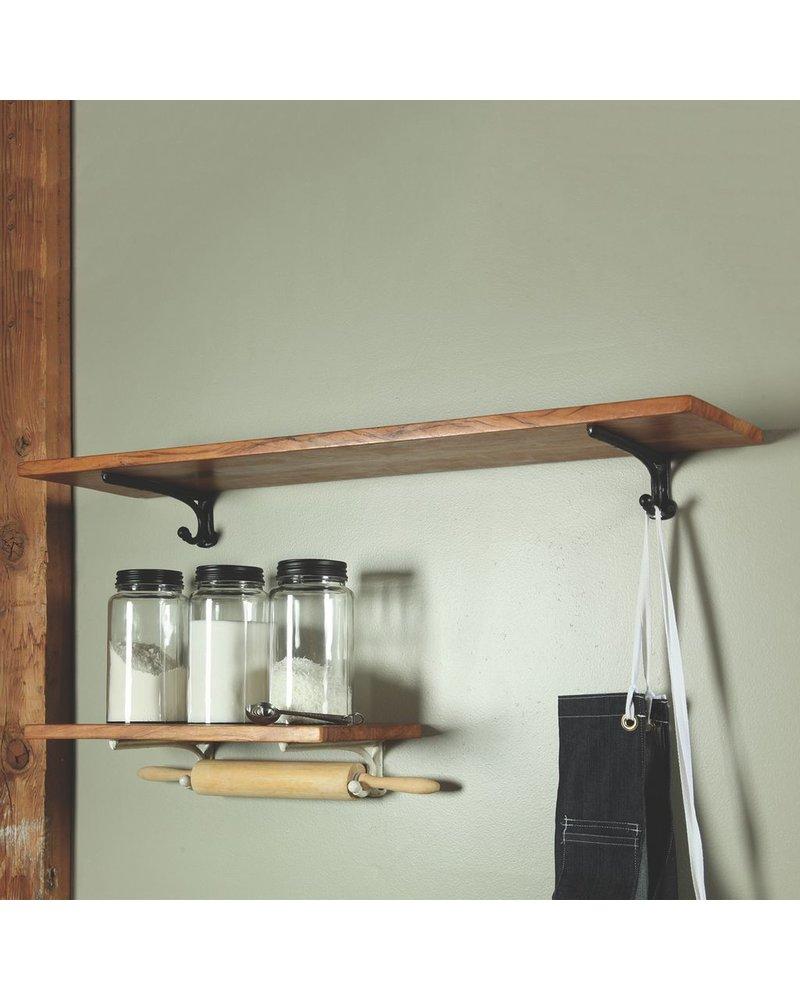 HomArt Sullivan Shelf - 18 in - White Brackets