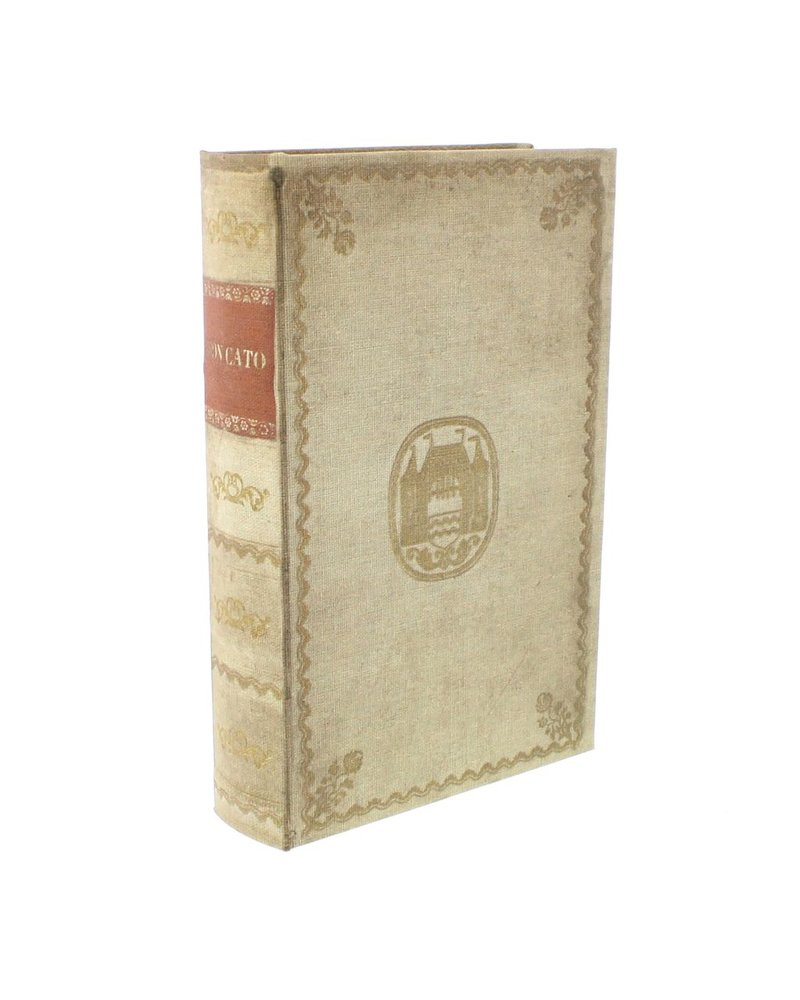 HomArt Vintage Canvas Book Box - Red Band